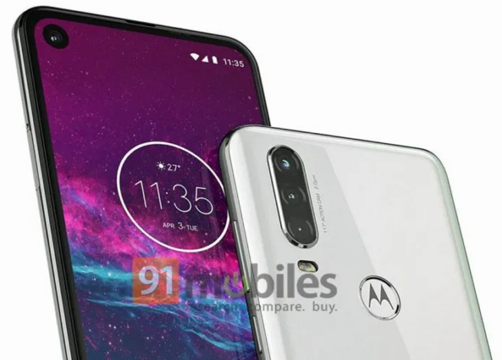 [Update: New render] Motorola One Action leaks with triple rear cameras, 21:9 display, and Exynos SoC