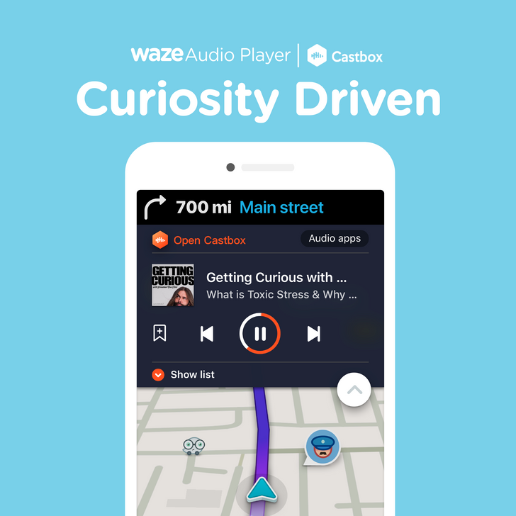 Waze teams up with Castbox to offer a dedicated podcast experience