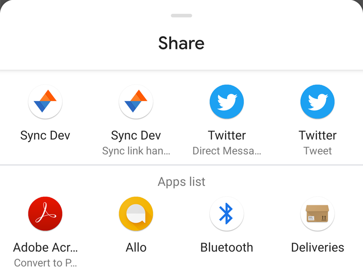 Android Q Beta 4 finally organizes the Share menu alphabetically, with suggested apps on top