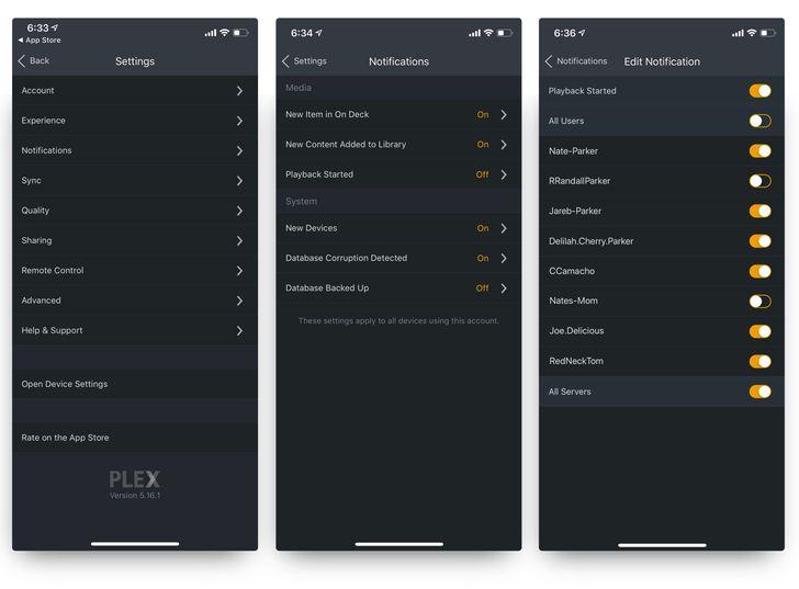 Plex adds server notifications in latest update