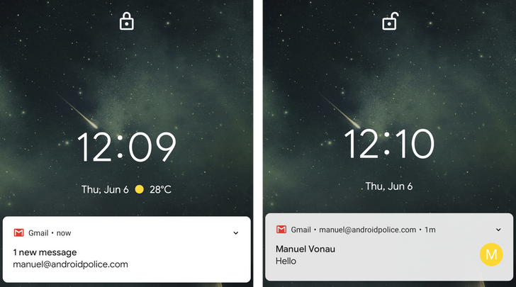 Android Q can reveal your sensitive notifications on the lock screen when your phone is unlocked