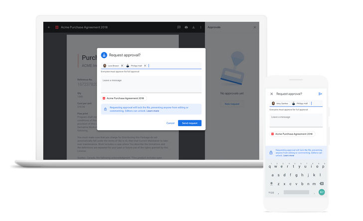 Google Docs now offers document approval requests and reviews in beta