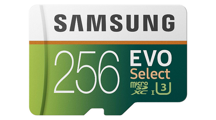 Samsung EVO Select 256GB microSD card with U3 rating drops to $40, 128GB to $20