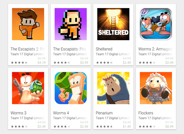 Team 17 games sale: Worms 4, Sheltered, Escapists 2, and more discounted on the Play Store