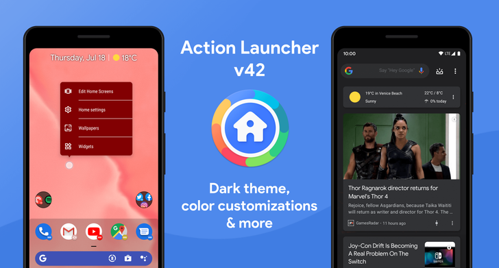 Action Launcher v42 gets more theme customization, ActionDash icon integration, and more