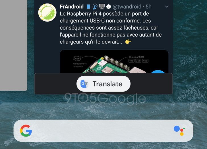 Android Q could offer to translate app previews in the Recents screen