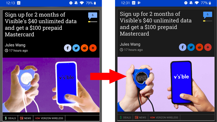 Dark mode for Chrome webpage content no longer inverts image colors in Canary