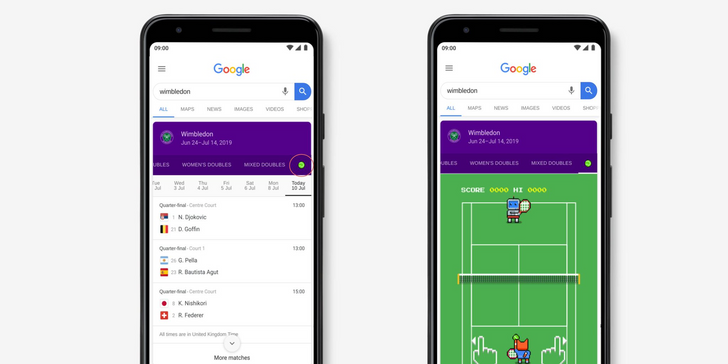 Google has a fun Wimbledon Easter egg you can play - if you know where to click