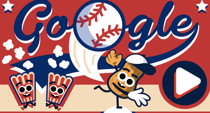 Google celebrates Independence Day with a baseball doodle game and fireworks in search