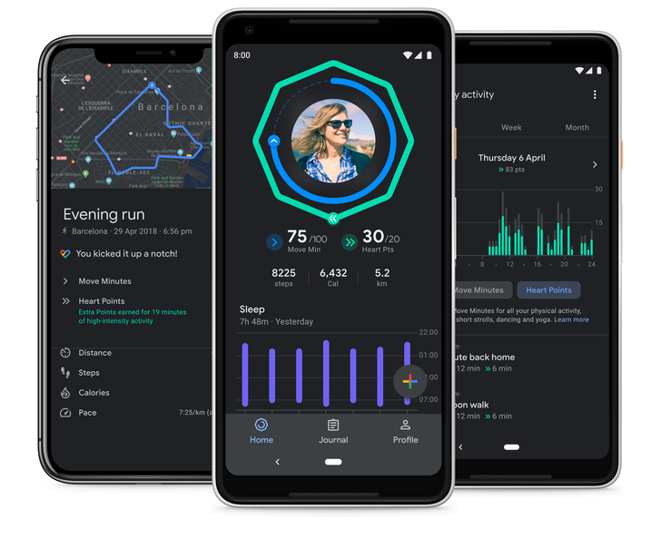Google adds charts to Fit's sleep tracking, rolls out dark mode to all users