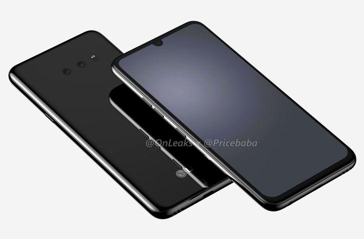 LG G8X renders forecast waterdrop notch and in-display fingerprint sensor