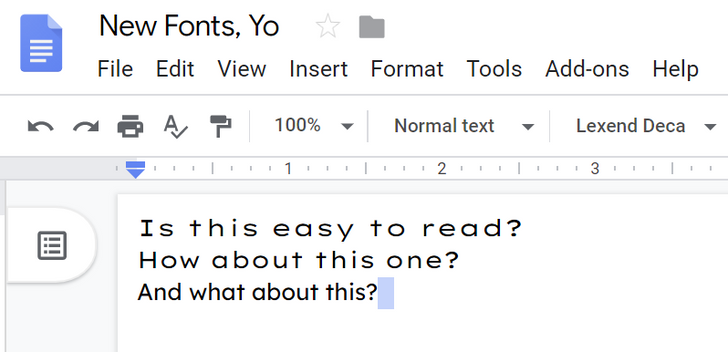 Google Docs gets new fonts to improve reading speed, so now everyone can reject your screenplay much faster