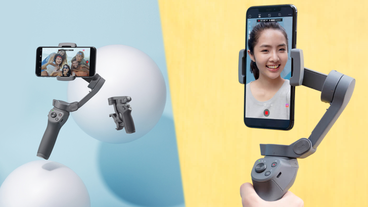 DJI's most flexible Osmo Mobile gimbal yet features a swinging elbow joint