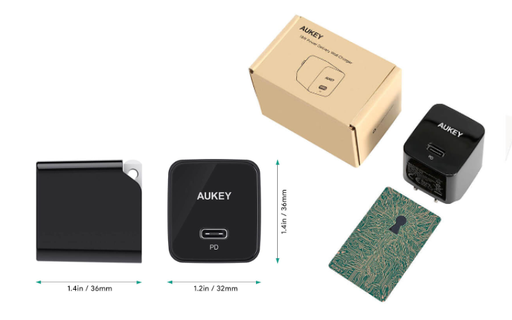 Aukey's tiny 18W USB-C wall charger is only $11 ($9 off) with this coupon