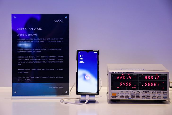 Oppo's new 65W SuperVOOC 2.0 promises a full charge in thirty minutes