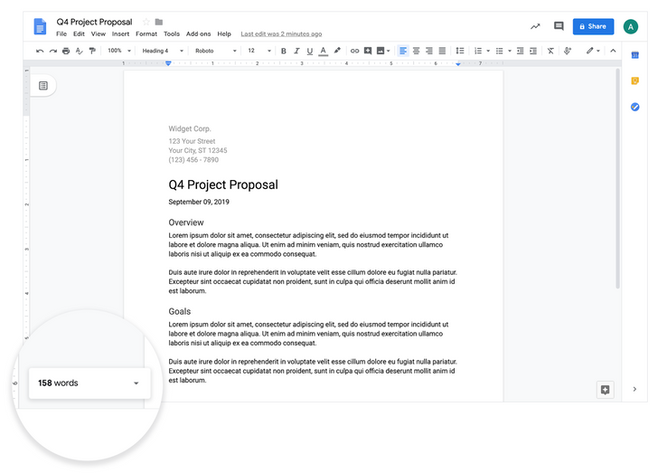 [Update: Word count limit] Google Docs' new live word count lets you know when your paper has enough BS filler