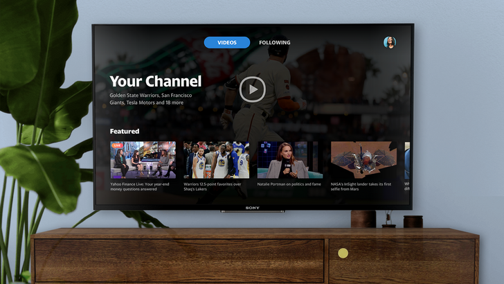 Yahoo video app comes to Android TV