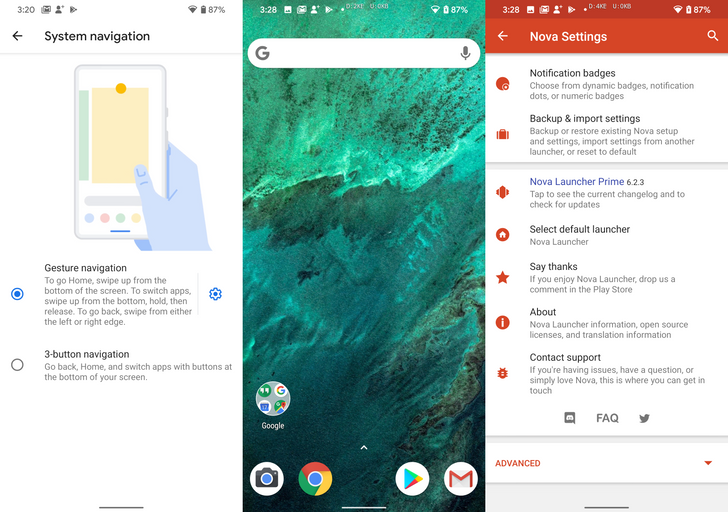 Android 10 now supports gesture navigation with third-party launchers on older Pixels