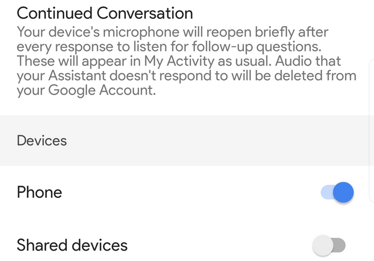 Google preparing Assistant Continued Conversation for phones
