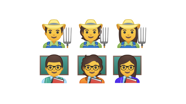 Emoji 12.1 adds 168 characters including bald and red-headed variants