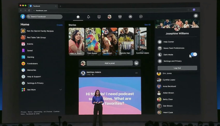 Facebook's new web interface is here for all, complete with dark mode