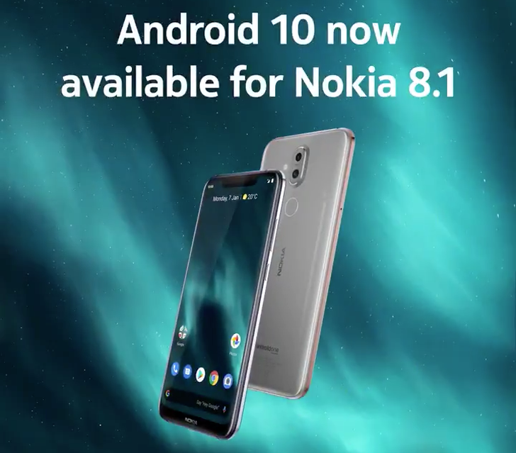 Android 10 starts rolling out to the Nokia 8.1