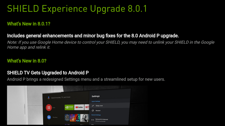 [Update: Vudu fixed] Nvidia rolls out minor update to fix the Shield's 4K playback issues