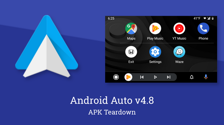 (Update: Weather rolling out) Android Auto v4.8 is ready to add app drawer customization and persistent weather [APK Teardown]