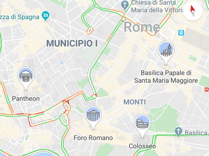 Google Maps adds large city landmark icons