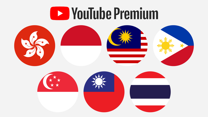 YouTube Premium and Music launch in 7 Asian markets