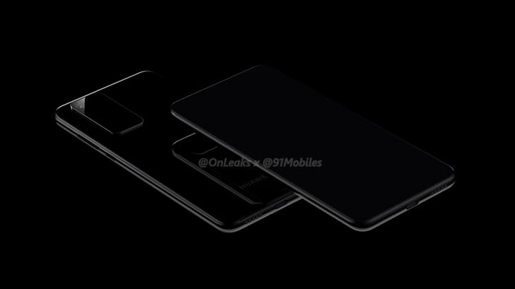Huawei P40 and P40 Pro renders show a giant camera module and not much else