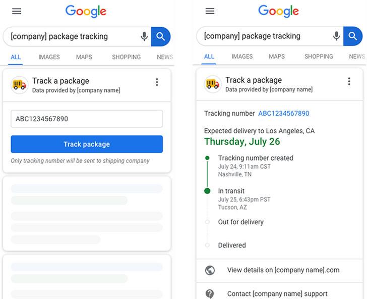 Google Search prepares for better package tracking integration