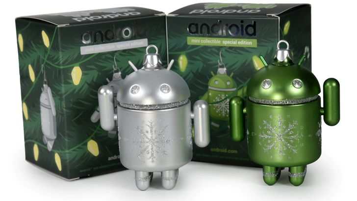 Android holiday ornaments from Dead Zebra are back, for a limited time (Update: Silver's back)