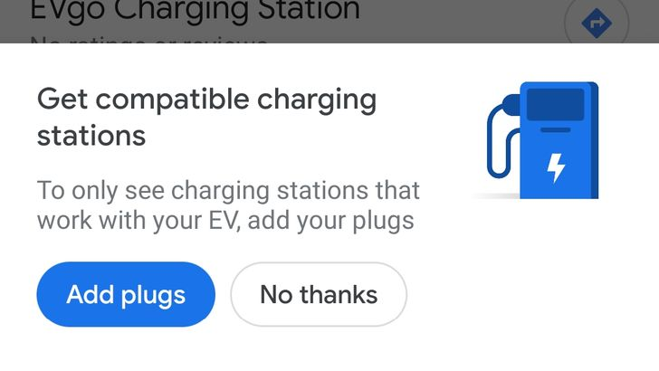 Google Maps can now search for electric vehicle charging stations by plug type