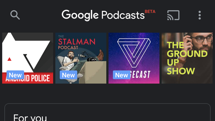 Google Podcasts gets dark mode in server-side rollout