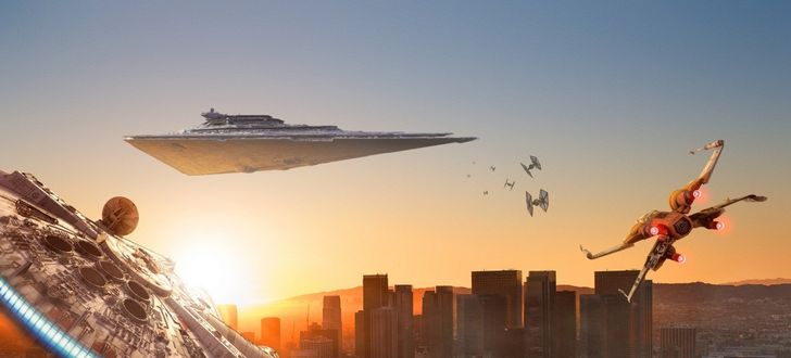 Star Wars ships arrive on Earth, visible with the help of Samsung Galaxy phones