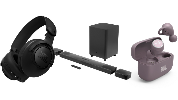 JBL reveals five new headphones and Dolby Atmos Soundbar with built-in Chromecast and rechargable satellites