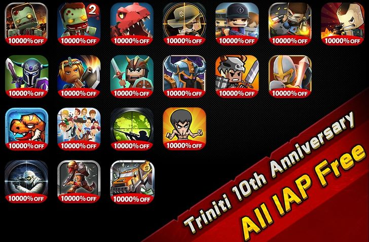 Triniti Interactive brings its most popular games back to the Play Store, minus all in-app purchases