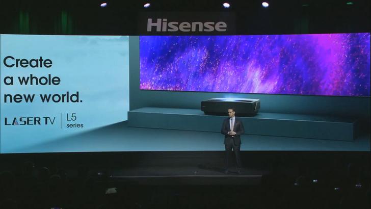 Hisense debuts $6,000 short-throw laser projector that runs Android TV