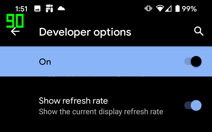 Android 11 adds option to show refresh rate, looks like Fraps