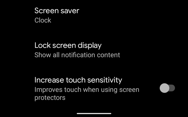 Android 11 gives Pixel 4 'increase touch sensitivity' setting for use with screen protectors
