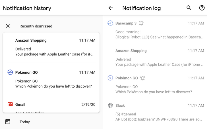 Android 11's notification history is no longer hidden (Updated)