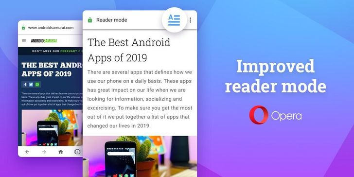 Opera 56 lets you browse clutter-free with enhanced reader mode