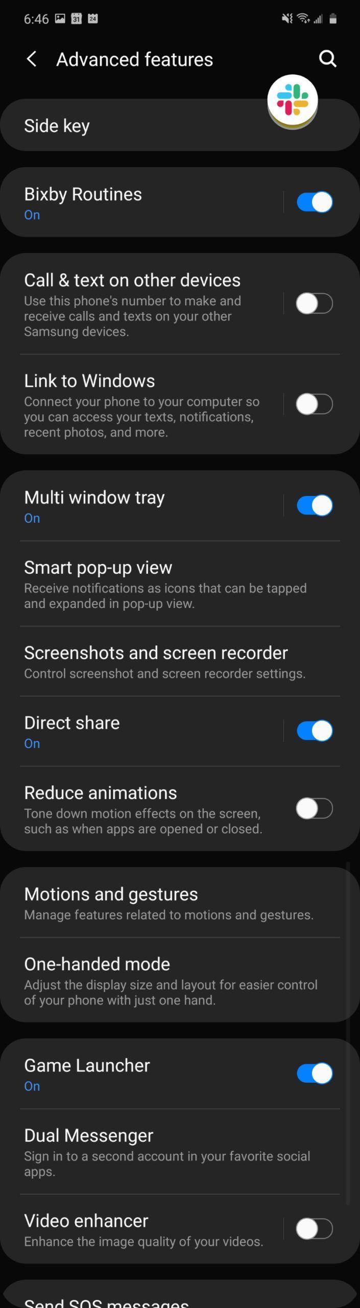 Galaxy Z Flip software screenshot 5