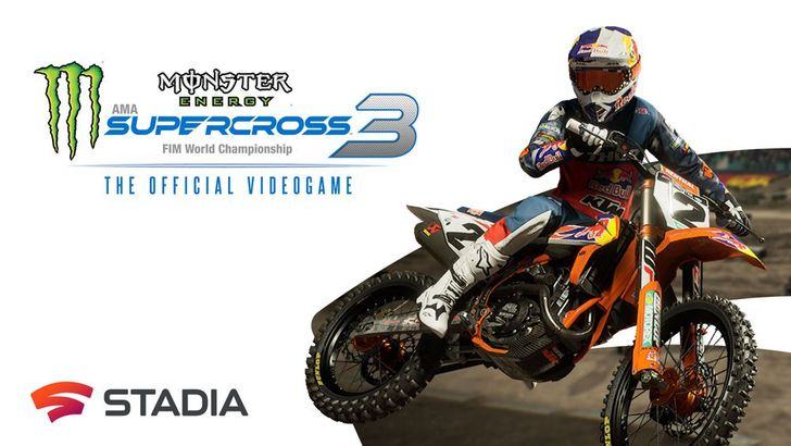 Google Stadia's latest addition is Monster Energy Supercross 3