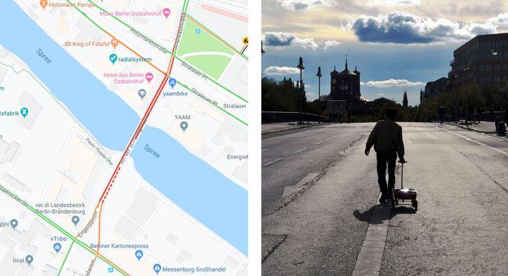 Artist lugs around wagon full of phones to create virtual traffic jams in Google Maps (Update: Google statement)