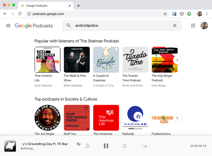 Google Podcasts gets a proper home on the web, but it's still missing tons of features