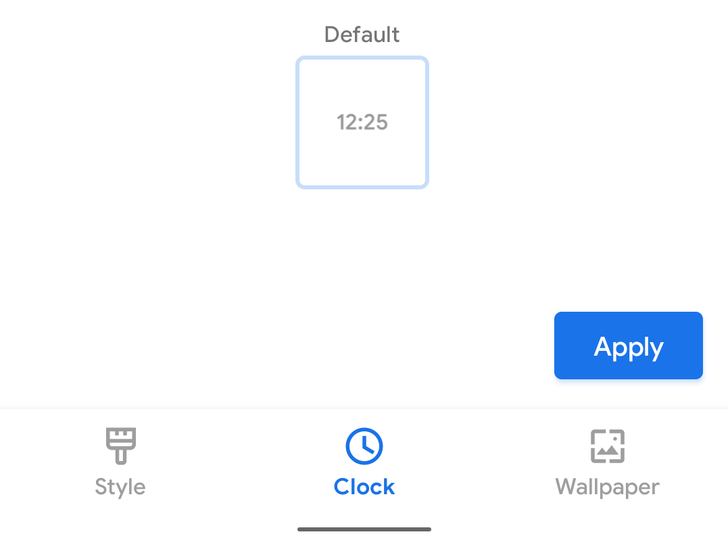 Clock 'style' customizations are live in Android 11 DP2, but there's only one option for now