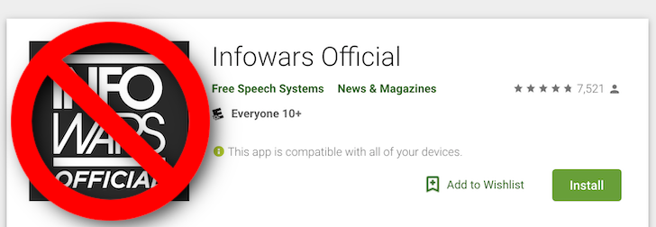 Alex Jones's Infowars app has been kicked out of the Play Store for spreading coronavirus misinformation