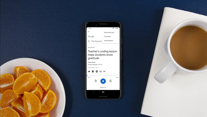 Tell Google Assistant to 'Read It,' including webpages translated from 42 languages